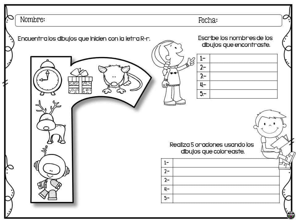 Alfabetario Com Letra Inicial Das Figuras Para Colorir Educadores
